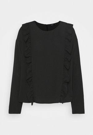 ONLNINNA RUFFLE - Long sleeved top - black