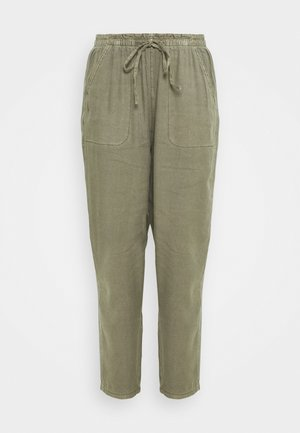 HIGH RISE VACA PANT - Trousers - olive