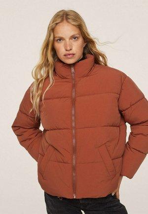 STEPPANORAK MIT ZIP - Winter jacket - granatrot
