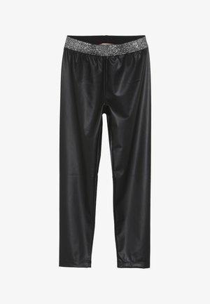 OCULISTA SIMILPELLE - Leggings - Trousers - black