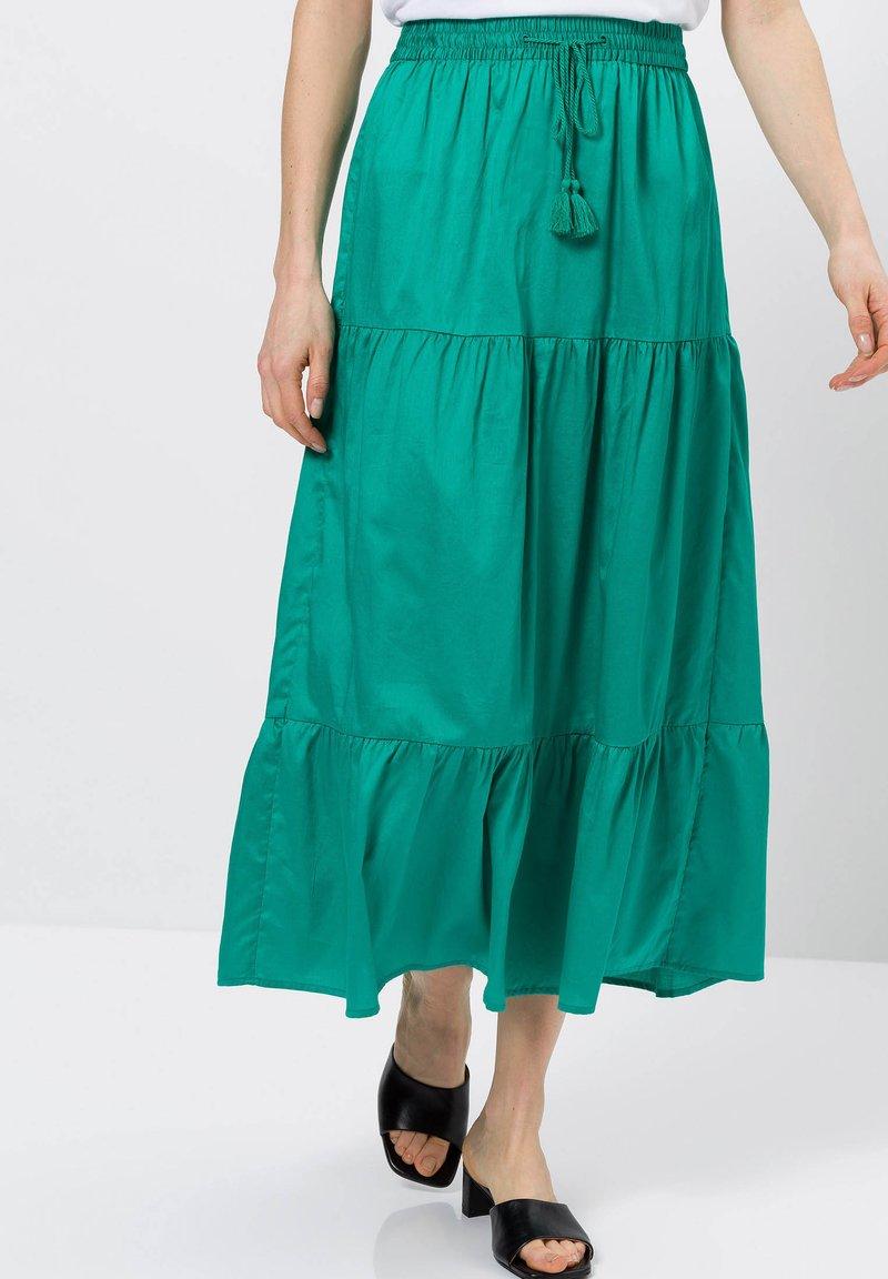 zero - A-line skirt - emerald green