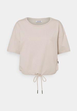 NMDURU LOOSE STRING - T-shirt print - chateau gray