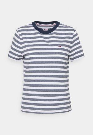 CLASSICS STRIPE TEE - Print T-shirt - white/navy