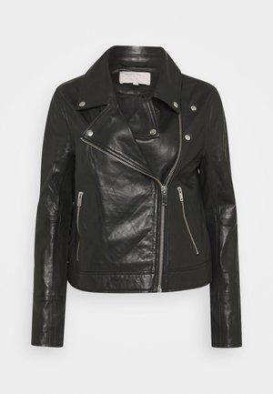 ELAIA - Leather jacket - black
