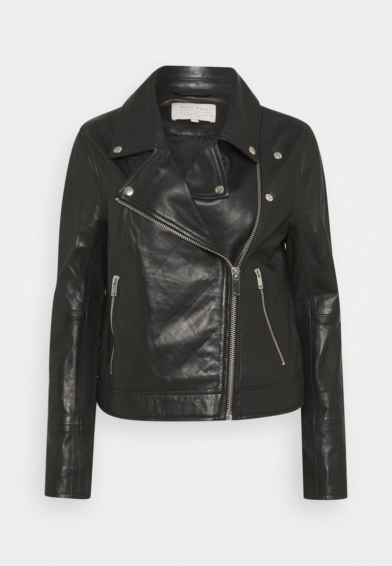 Part Two - ELAIA - Leather jacket - black