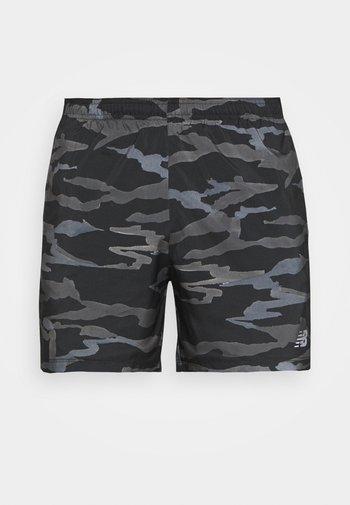 PRINTED ACCELERATE SHORT - Urheilushortsit - black/grey