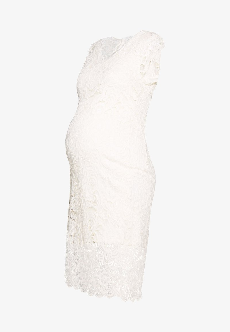MAMALICIOUS - MLNEWMIVANA CAP DRESS - Cocktail dress / Party dress - snow white