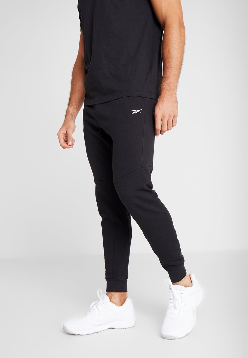 Reebok - LINEAR LOGO ELEMENTS SPORT PANTS - Spodnie treningowe - black