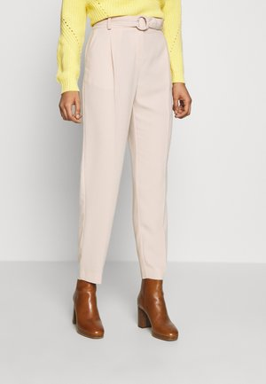 BUCKLE DETAIL TROUSER - Pantalones - light brown