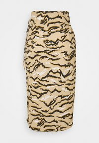 Marks & Spencer London - ANIMAL WRAP MIDI - Pencil skirt - sand - 1