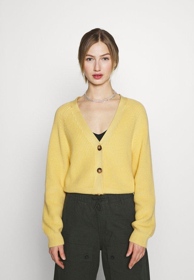 ZETA CARDIGAN - Kardigan - yellow