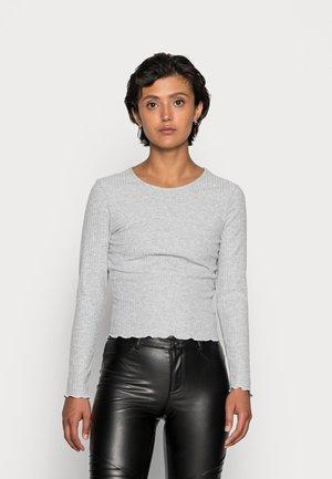 ONLNELLA O NECK - Long sleeved top - light grey melange