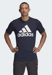 adidas Performance - MUST HAVES BADGE OF SPORT T-SHIRT - Print T-shirt - blue - 0