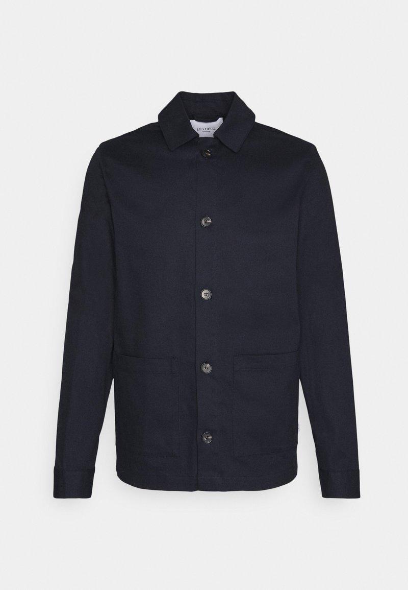 Les Deux - PRESTON DOBBY HYBRID - Summer jacket - dark navy