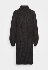 Noisy May Petite - ROBINA - Strikket kjole - dark grey melange - 0