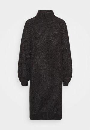 ROBINA - Strikket kjole - dark grey melange
