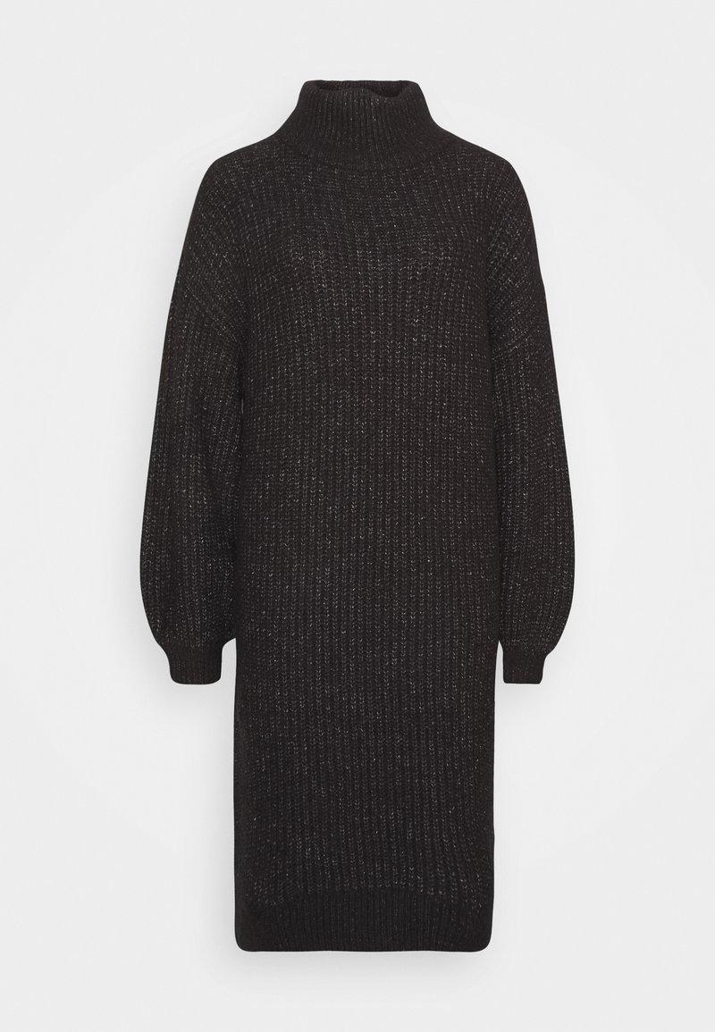 Noisy May Petite - ROBINA - Strikket kjole - dark grey melange
