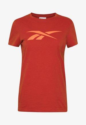 VECTOR TEE - Print T-shirt - red