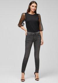 s.Oliver BLACK LABEL - Slim fit jeans - grey - 1