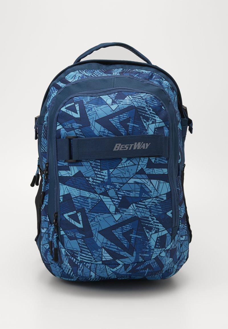 Fabrizio - BEST WAY BACKPACK - Školní taška - teal/navy blue