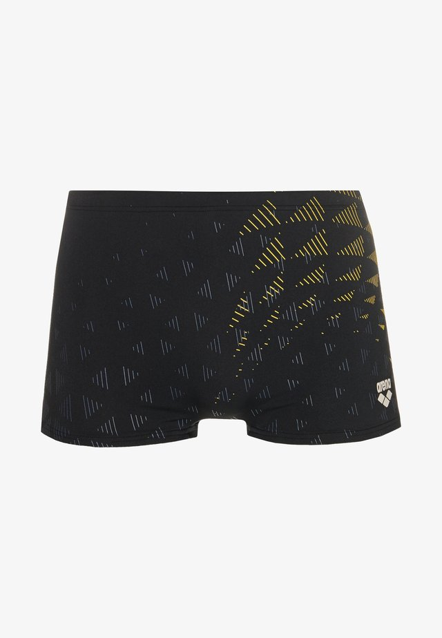 ONE TUNNEL VISION - Swimming trunks - black/yellow