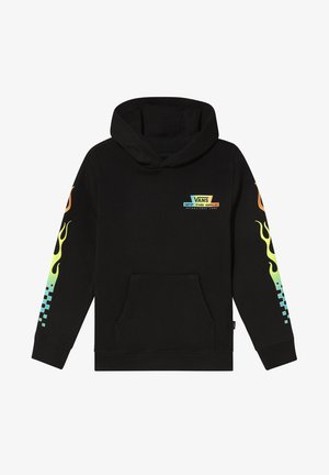 BY GLOW FLAME PO - Hoodie - black/glow flames