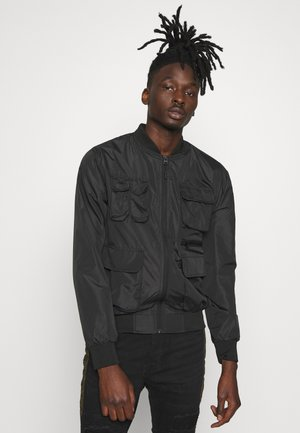 HAIDEN - Bomber Jacket - black