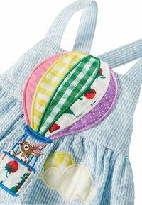 Boden - MIT HEISSLUFTBALLON - Day dress - surfbrettblau, feine streifen/heißluftballon - 2