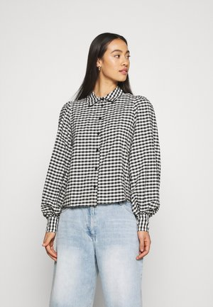 VALLON BLOUSES - Button-down blouse - black/white