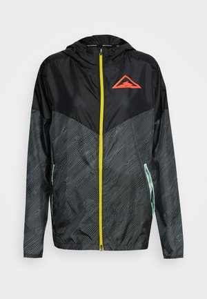 TRAIL - Veste coupe-vent - black/laser crimson