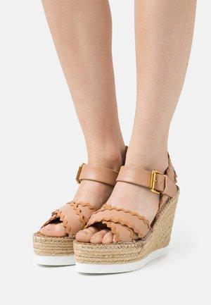 GLYN - Sandály na platformě - nude