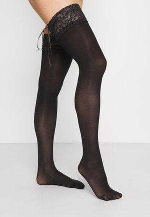 HOLD UPS - Calcetines por encima de la rodilla - black