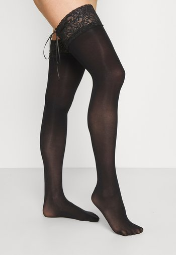 HOLD UPS - Over-the-knee socks - black