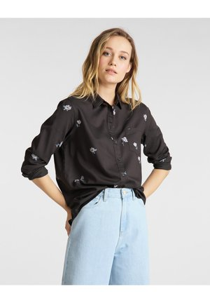 ONE POCKET - Button-down blouse - faded black