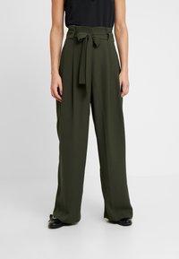 Second Female - YASEMIN LONG TROUSERS - Trousers - deep depth - 0