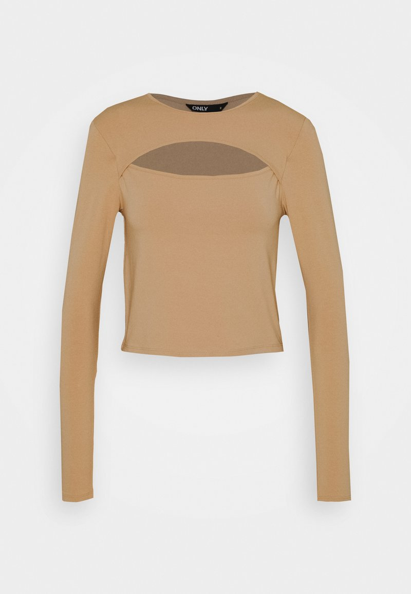 ONLY - ONLLIVE LOVE DETAIL - Long sleeved top - warm sand