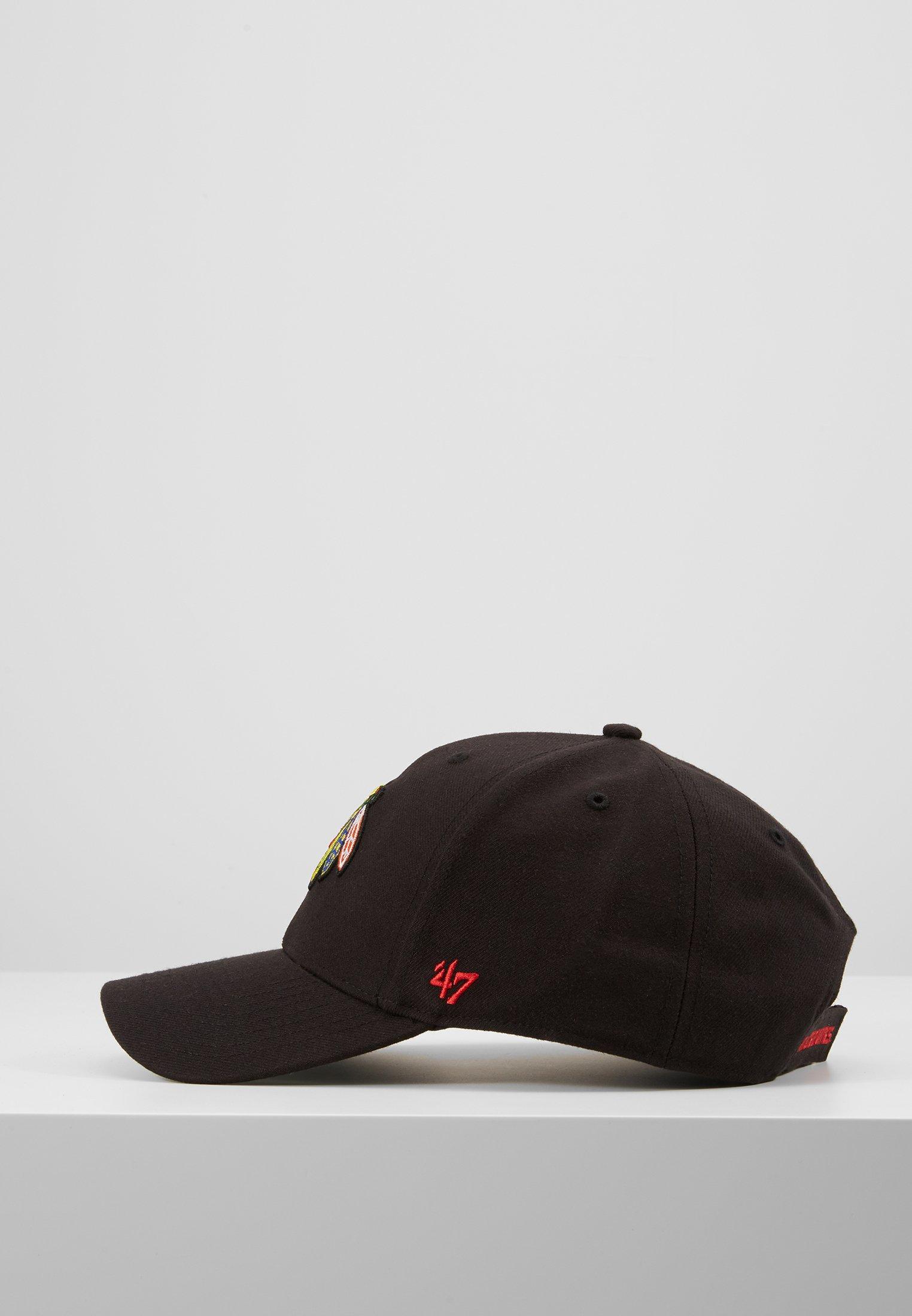 '47 NHL CHICAGO BLACKHAWKS - Cap - black/svart wTdvjV7jgB8vAsR