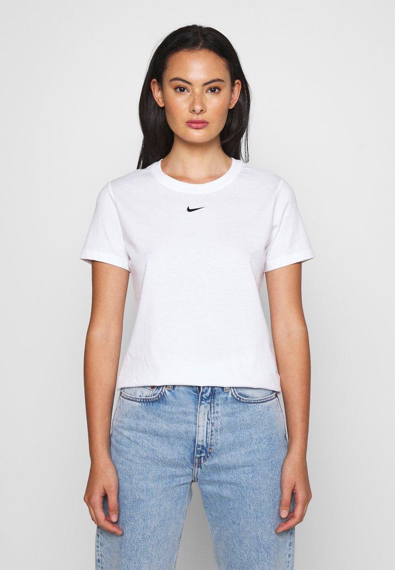 Nike Sportswear - TEE CREW - T-shirts - white/black