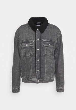 SHERPA JACKET - Denim jacket - denim grey