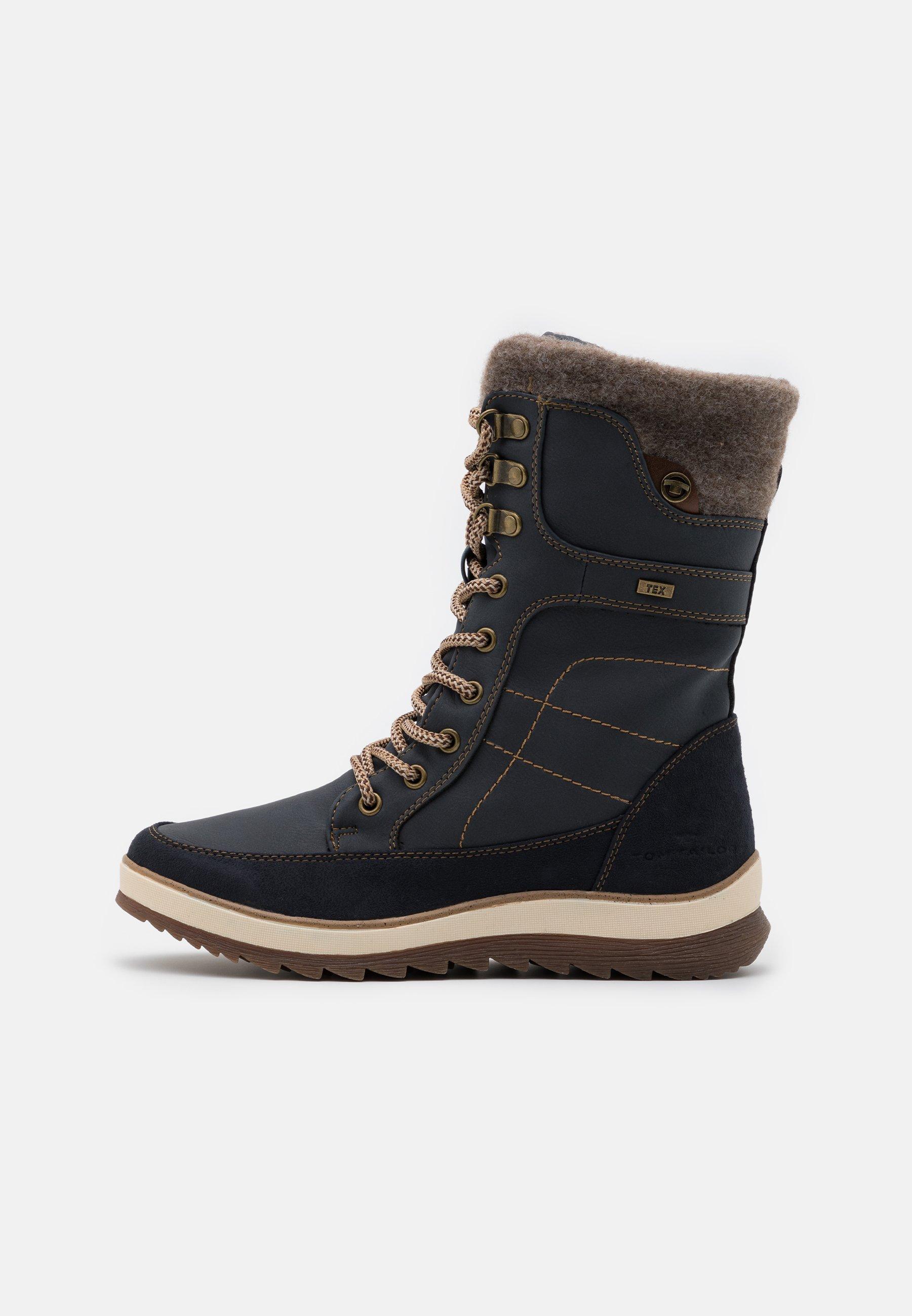 Tom Tailor Snørestøvler - Navy/mørkeblå