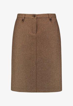 Pencil skirt - camel melange