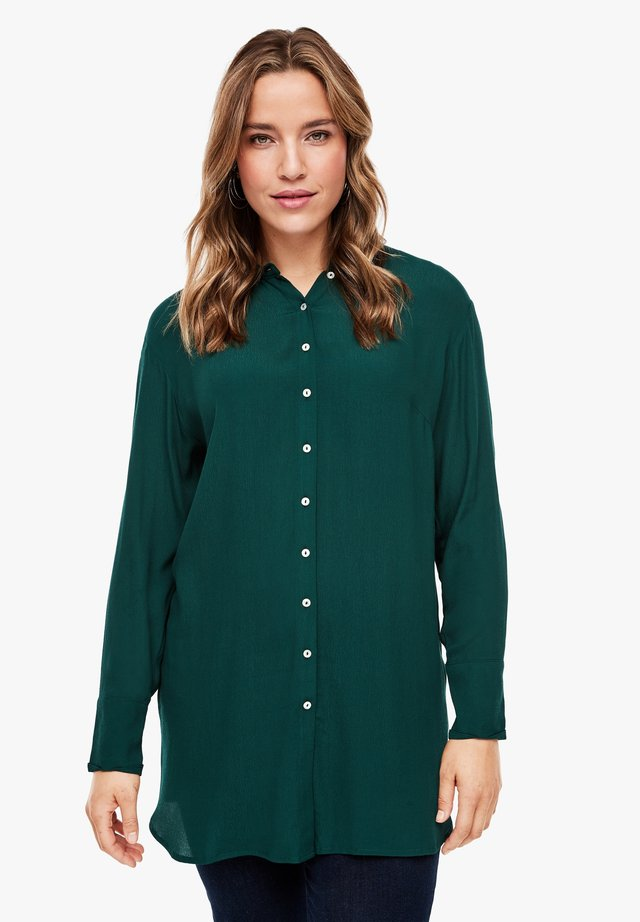 Button-down blouse - emerald