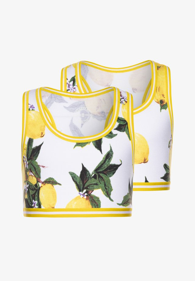 GIRLS 2 PACK  - Bustier - white/yellow