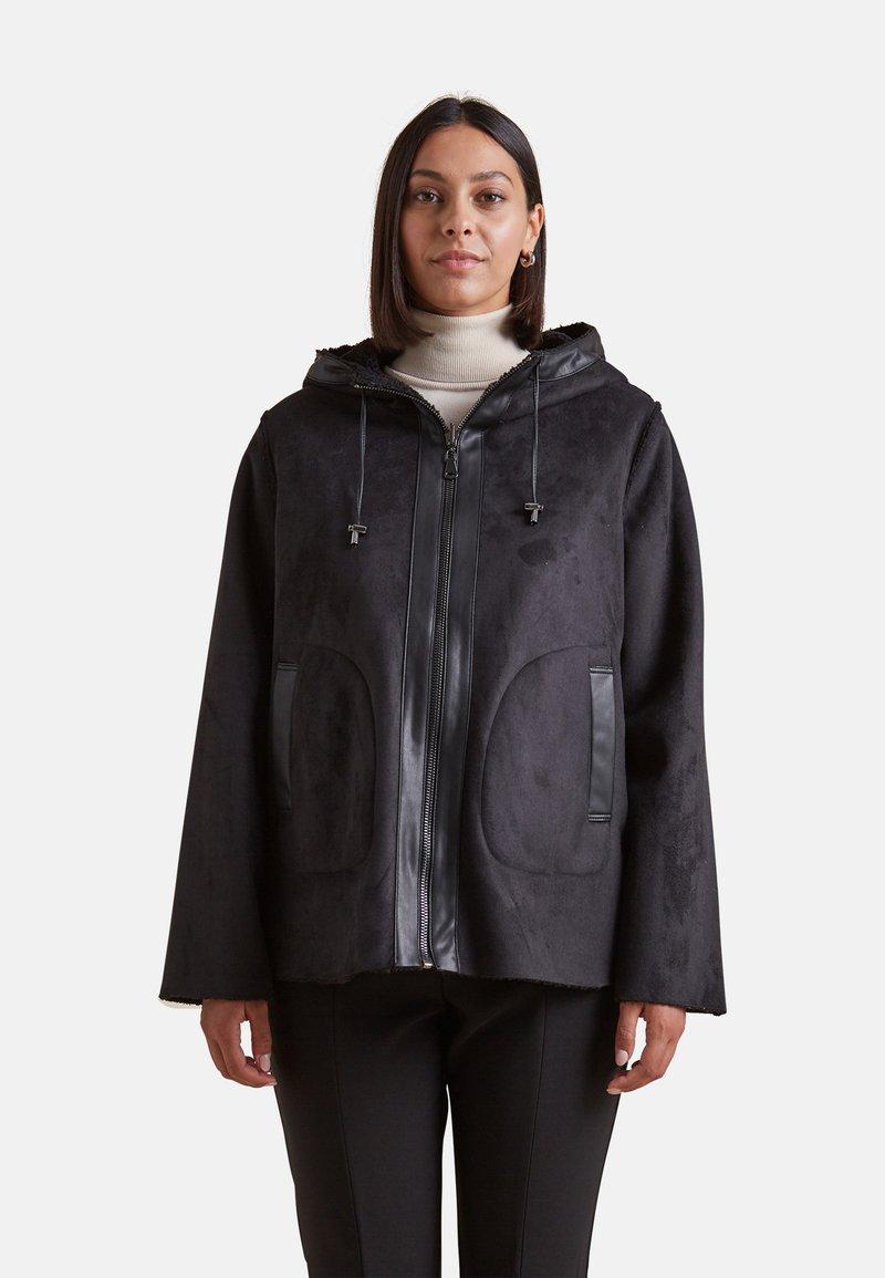 Elena Mirò - EFFETTO MONTONE REVERSIBILE - Light jacket - nero