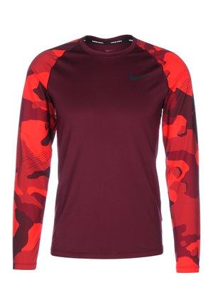Long sleeved top - night maroon / black