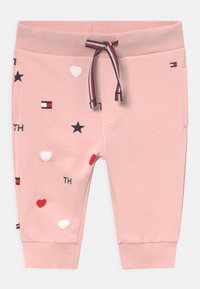 Tommy Hilfiger - BABY FLAG HOODED SET UNISEX - Verryttelypuku - pink - 2