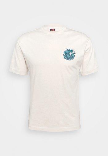JAPANESE WAVE DOT UNISEX - Print T-shirt - off white
