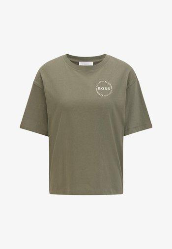 EVINA - Basic T-shirt - dark green