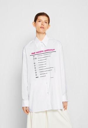 SHIRT - Button-down blouse - white