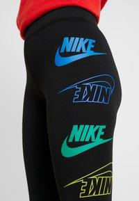 Nike Sportswear - LEGASEE FLIP - Leggings - black/racer blue - 4